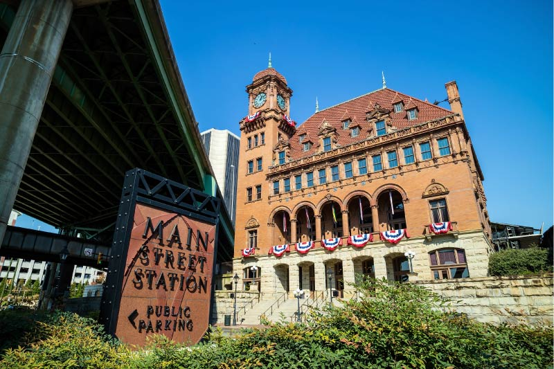 Main Street Station in downtown Richmond is a hub for public transportation options.