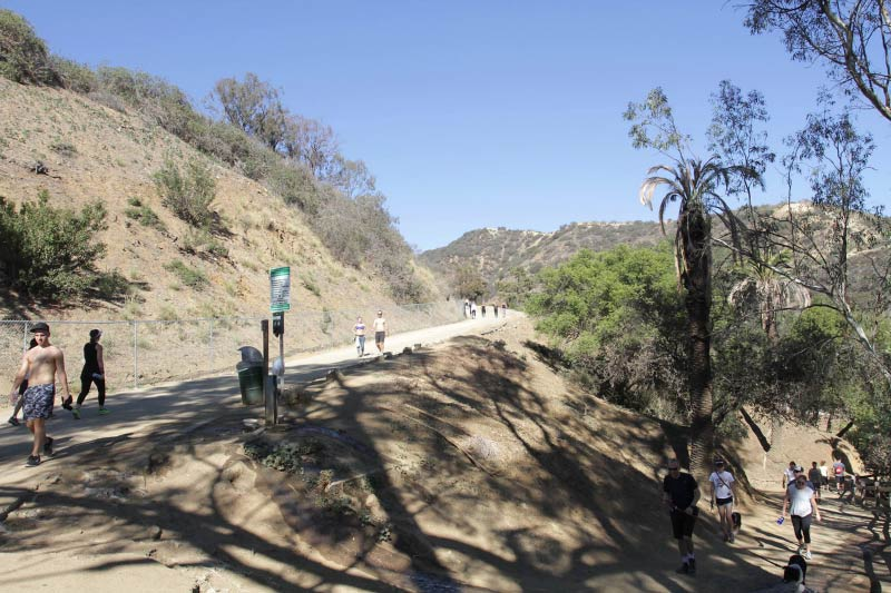 People hiking in Runyon Canyon.