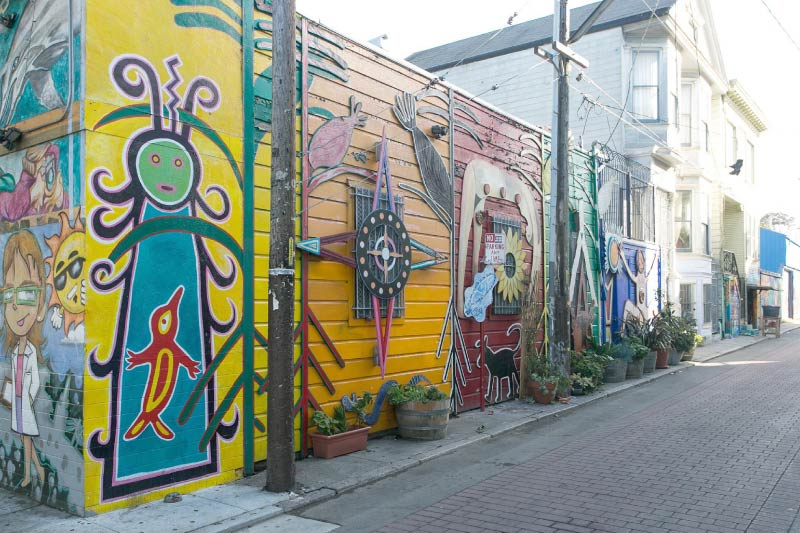 A mural in San Francisco's Mission District.