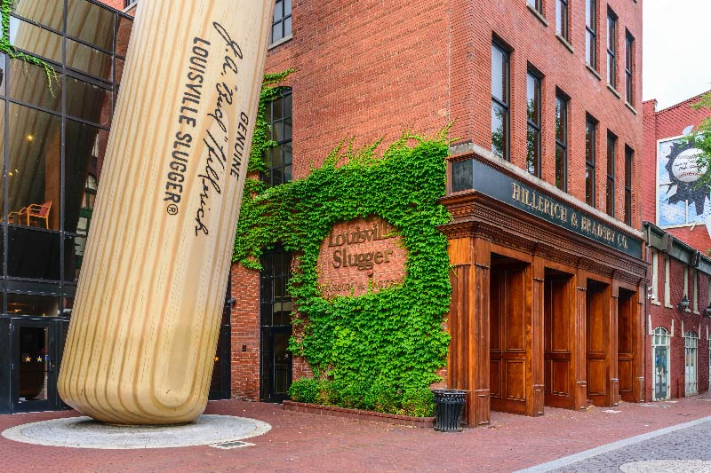 The Louisville Slugger Museum and Factory.