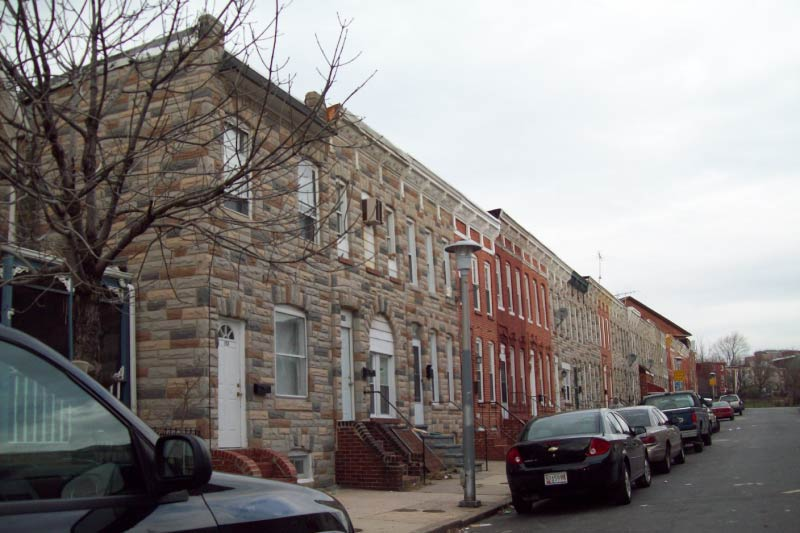 Homes in Pigtown, Baltimore.