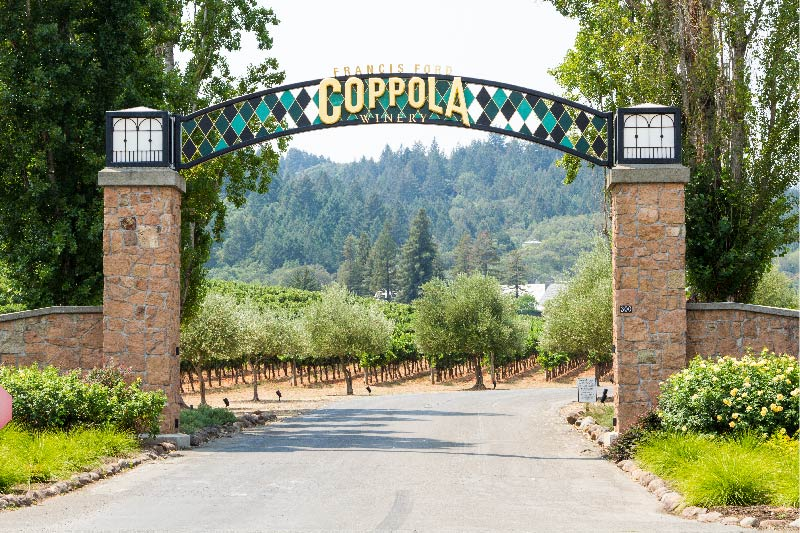 Francis Ford Coppola Winery in Healdsburg California