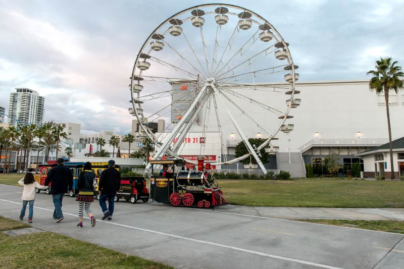 The Pike Ferris Wheel, an wooden attraction built in 1920.