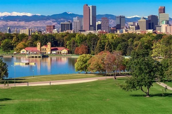 Denver neighborhood with beautiful parks.