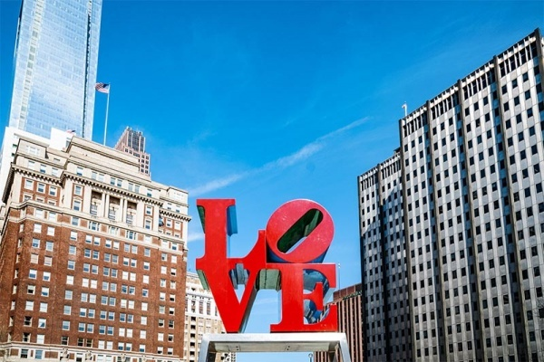 Love sculpture in The City of Brotherly Love, Philadelphia, PA