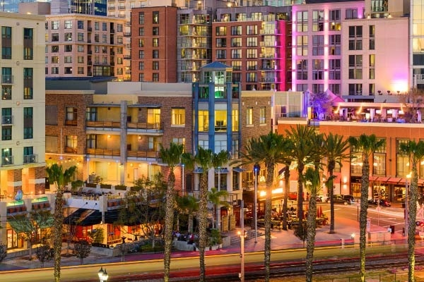The Gaslamp District of San Diego