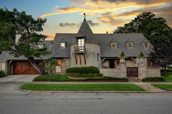 Charles Dilbeck-Designed Historic Park Cities Castle Hits Market for $1.99M
