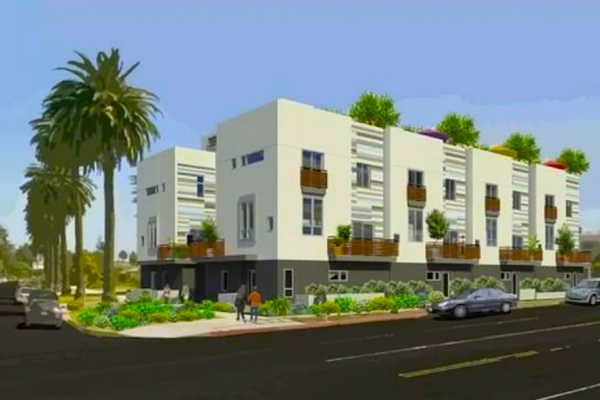 New Three-Story Homes Near Completion in Mar Vista