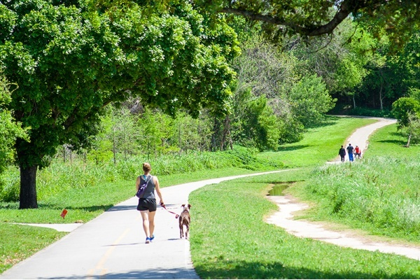 First Phase of Mansfield's Pond Branch Trail Nearly Completed