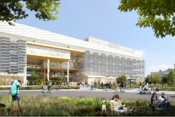 Title photo - Google Unveils Large Sunnyvale Office Complex for 4,500 Employees