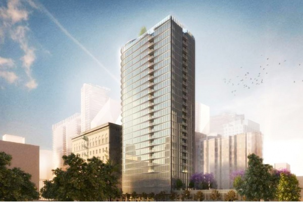 Developer Plans Mixed-Use High-Rise Across From Grand Hope Park