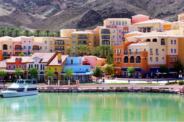 Spotlight on Lake Las Vegas in Henderson, NV