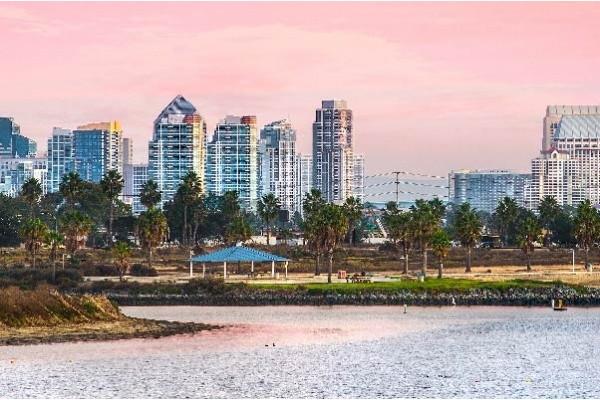 The skyline of San Diego, California