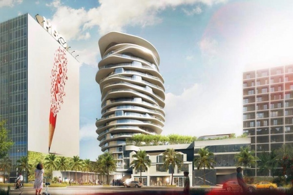 Funky Hotel Tower With Helicopter Pad Planned for Hollywood's Sunset Strip