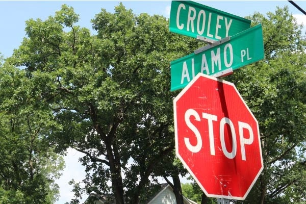 The intersection of Croley and Alamo in Croleywood