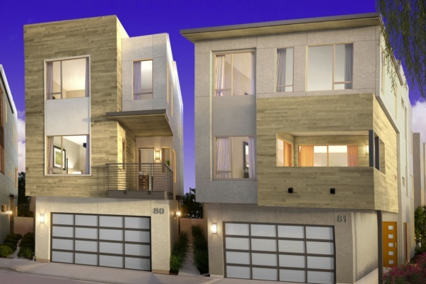 Title photo - Doors Open on New Three-Story Townhomes in Newport Beach
