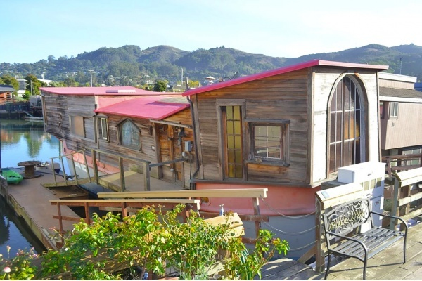 Famous Poet Shel Silverstein's Eclectic Sausalito Houseboat For Sale