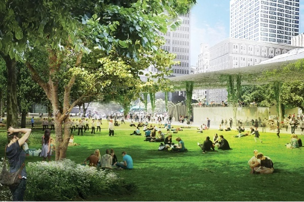 Pershing Square Makeover Gets New Renderings