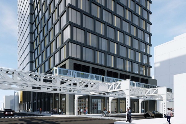 Vision for Fulton Market Office Building Grows