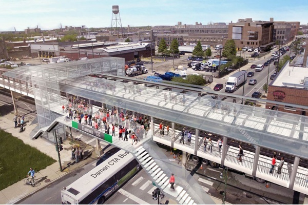 CTA Plans $60M+ Project to Build Damen Green Line Station, Update Lake Street