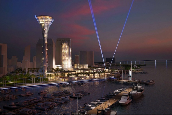 Title photo - 500-Foot Spire Will Be Showpiece of San Diego Seaport Project