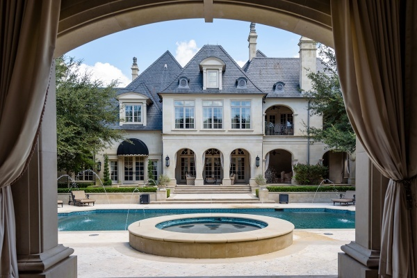 Preston Hollow Estate With Water Park, Basketball Court, and Bowling Alley Asks $28M