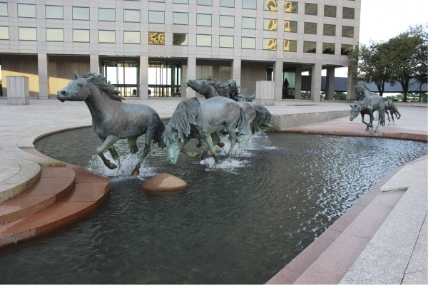 Mustangs of Las Colinas, Irving, Texas