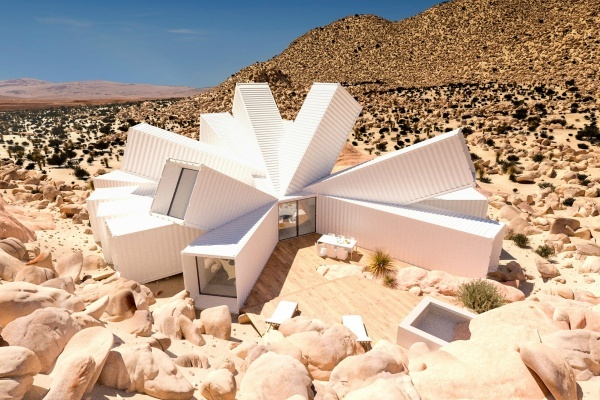 You Have to See This Shipping Container House Concept in Joshua Tree Desert