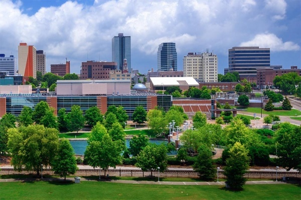The skyline of downtown Knoxville Tennessee