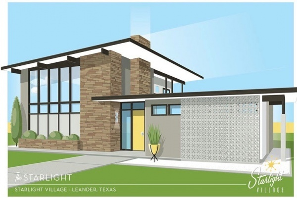 Midcentury Modern Village Coming to Leander, Texas, Outside of Austin