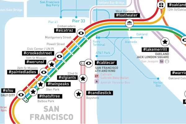 See the Bay Area Mapped by Most Popular Instagram Hashtags