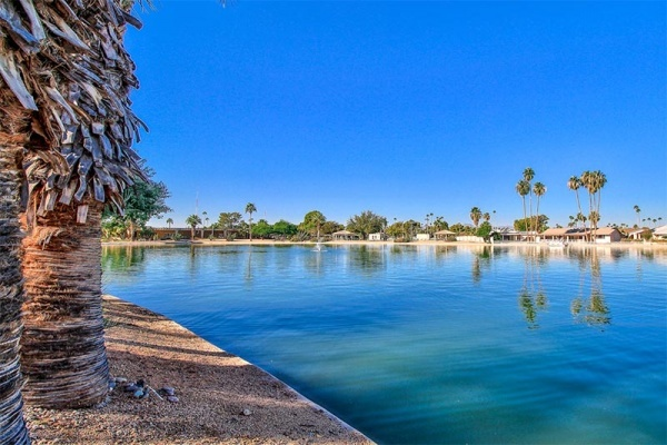 A pond in the Sun City community in Arizona