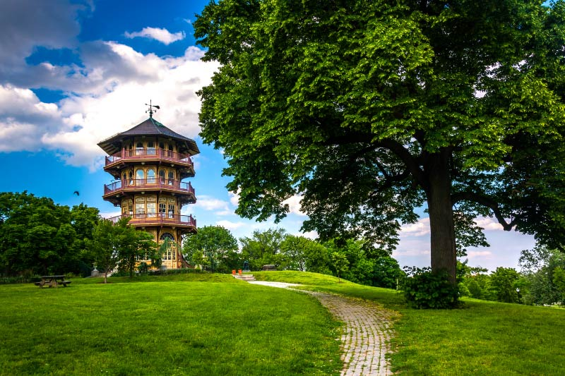 A pagoda in Patterson Park.