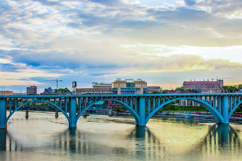 A bridge over the Tennessee River in Knoxville