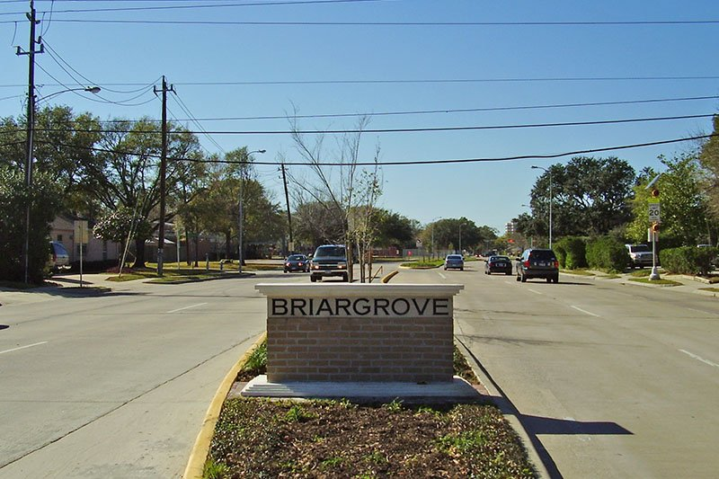 Briargrove City Sign
