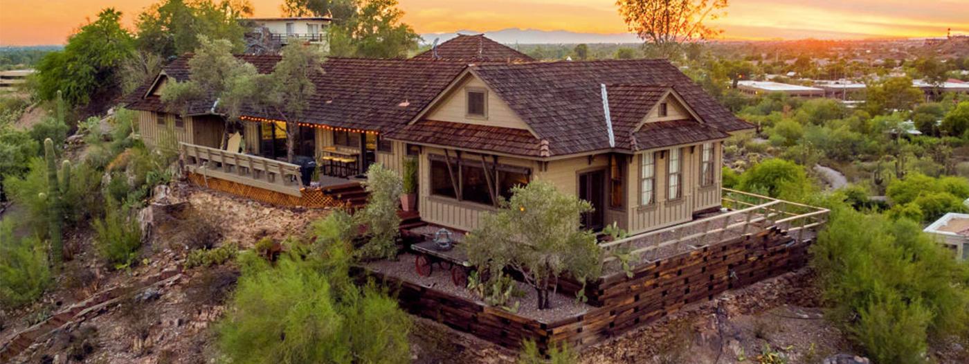 Former Railroad Depot Turned North Phoenix Hilltop Home Asks $1.05M