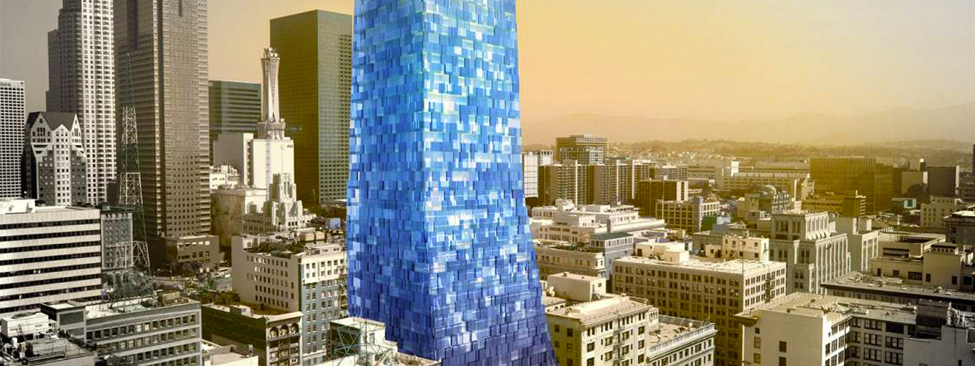 45-Story DTLA Tower Would Be Blue Glass Beacon Over Spring Street