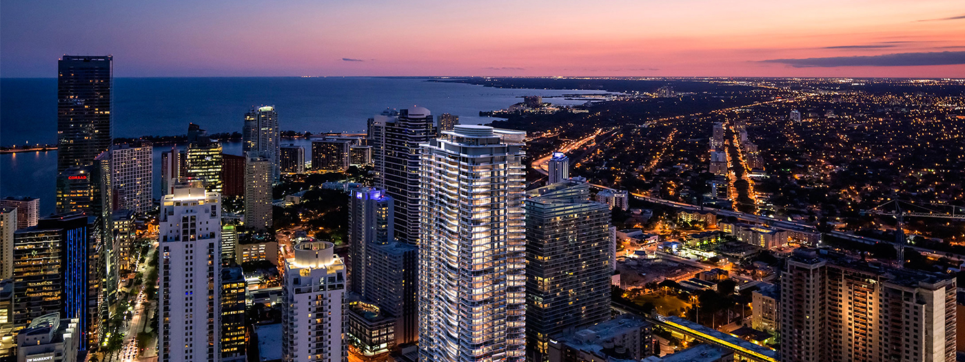 High-Rise Residential Tower Brickell Flatiron Takes Shape