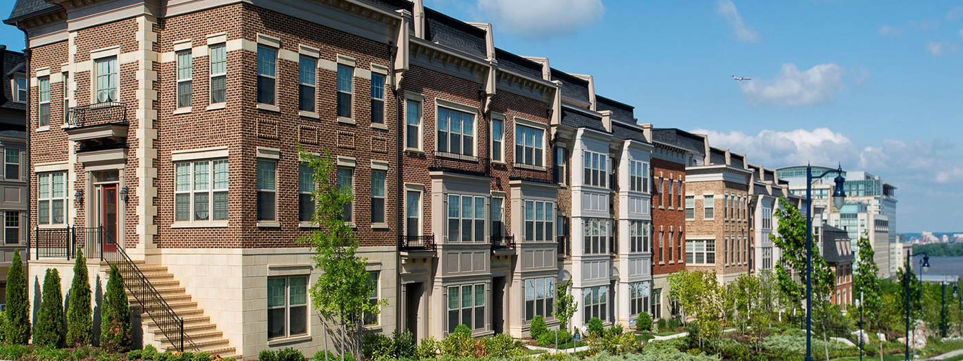 New Homes in Classic Brownstone-Style Now For Sale in National Harbor