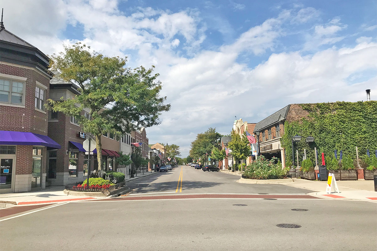 Hinsdale downtown street