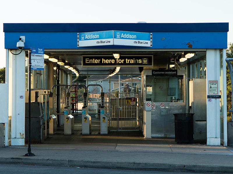 Addison Blue Line CTA station in Chicago, IL