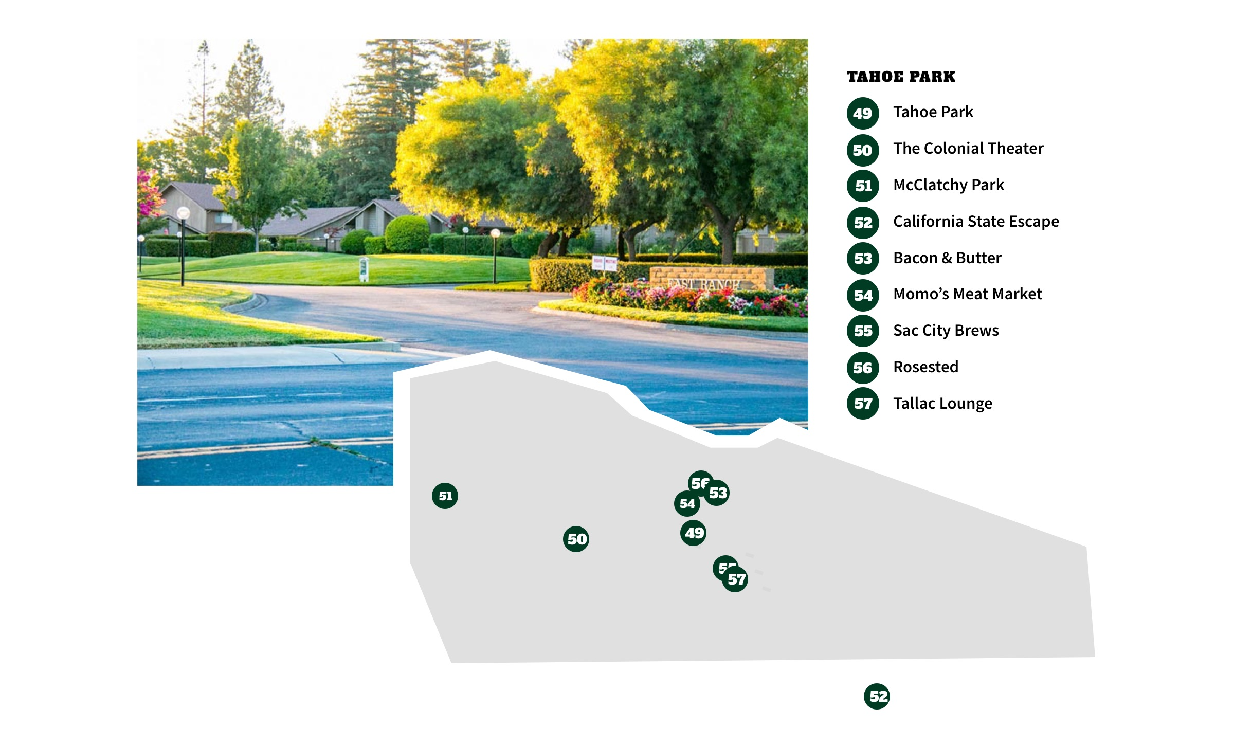 Tahoe Park Neighborhood Map