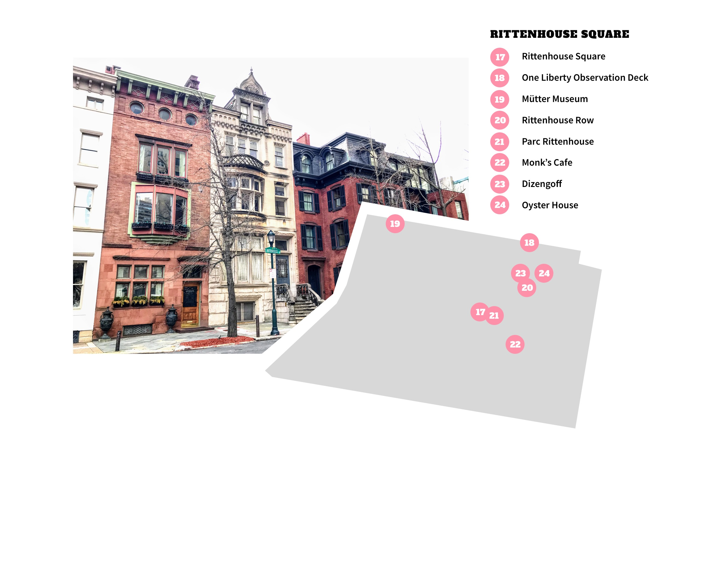 Rittenhouse Square Neighborhood Map - Philadelphia