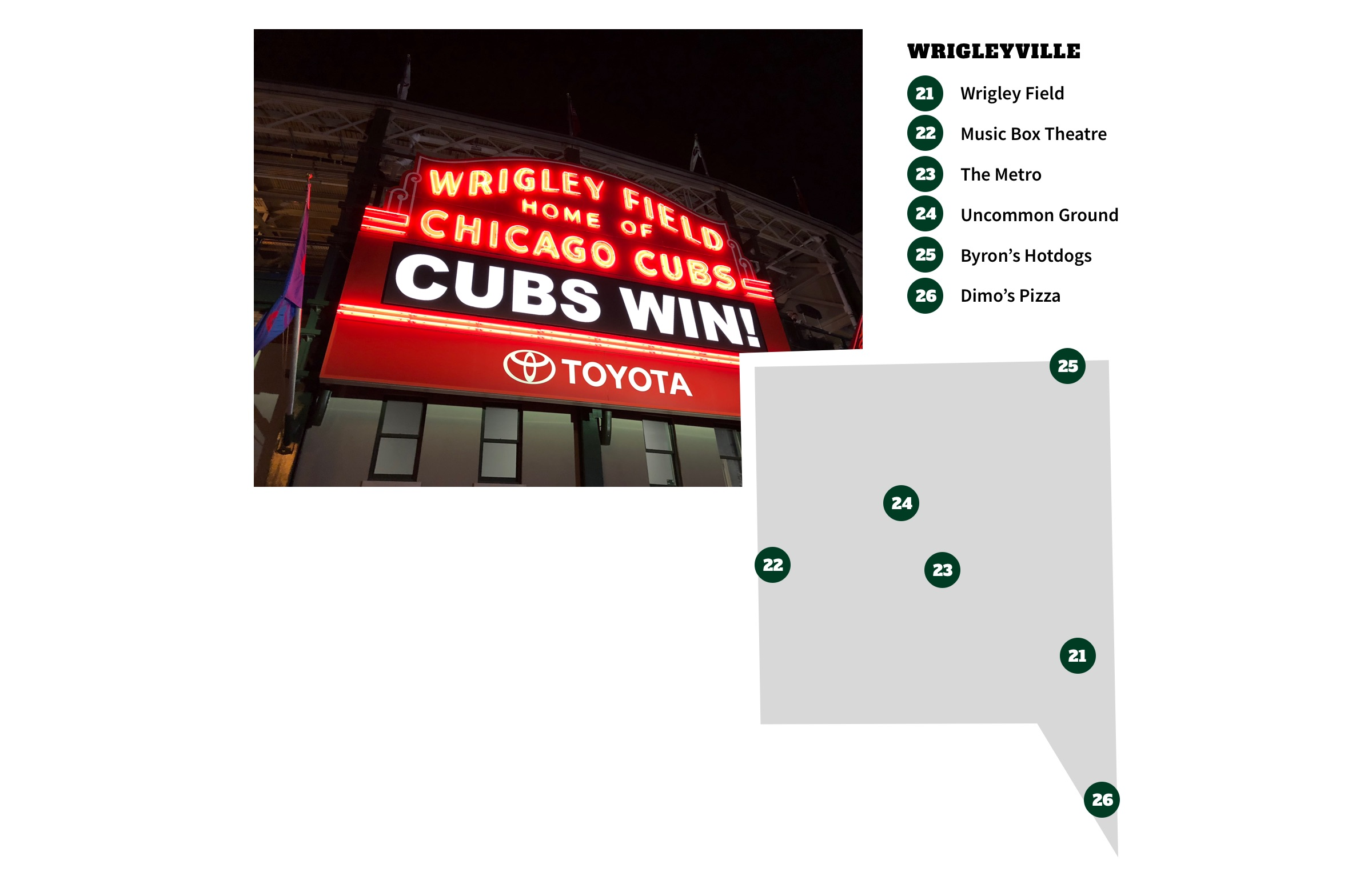 Wrigleyville, Chicago Neighborhood Map