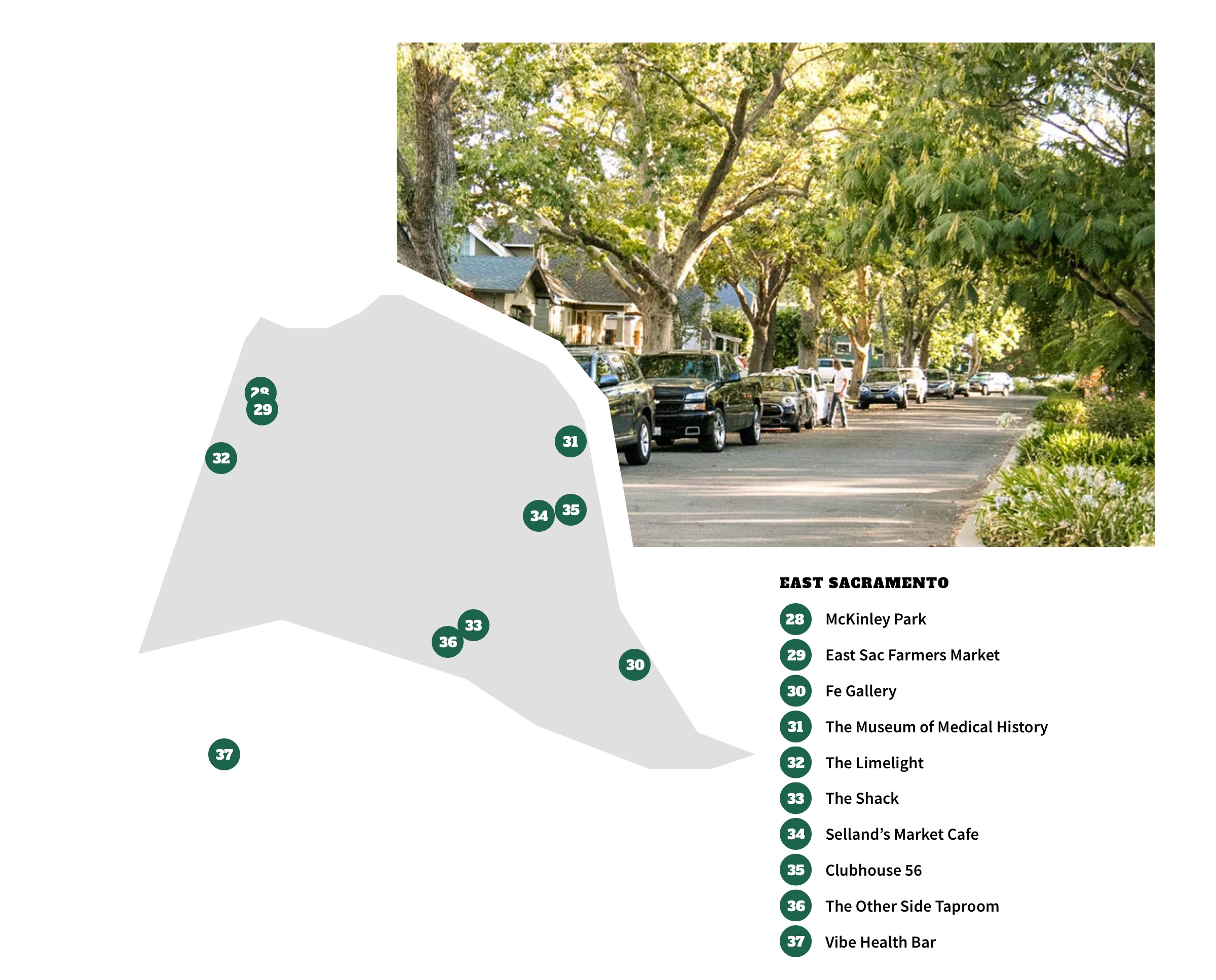 East Sacramento Neighborhood Map