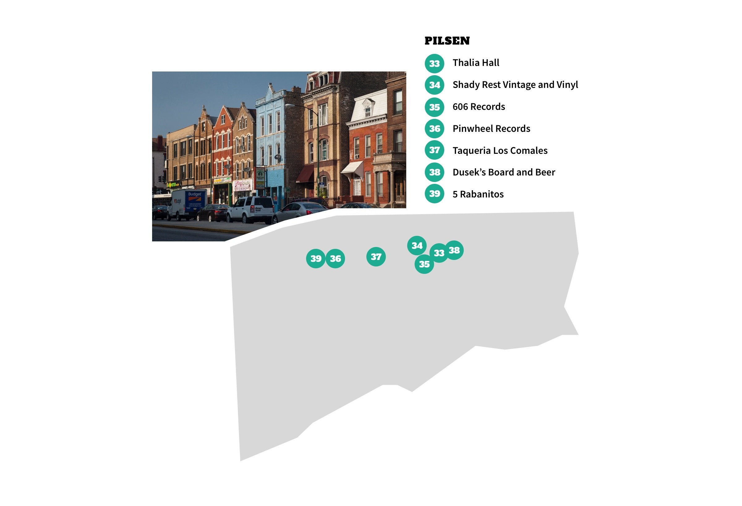 Pilsen, Chicago Neighborhood Map