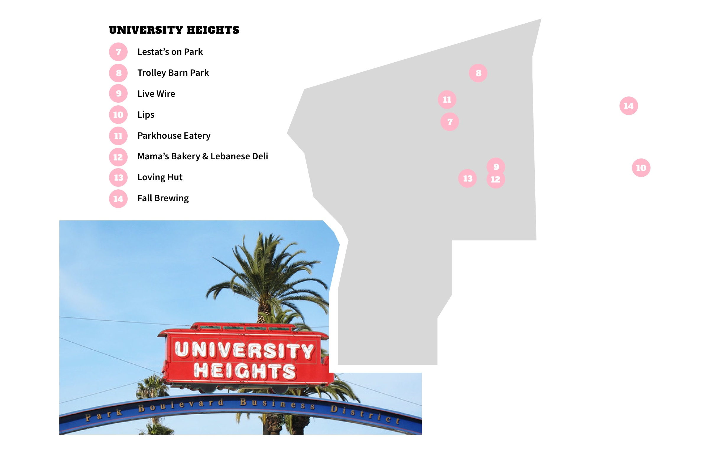 University Heights, San Diego Neighborhood Map