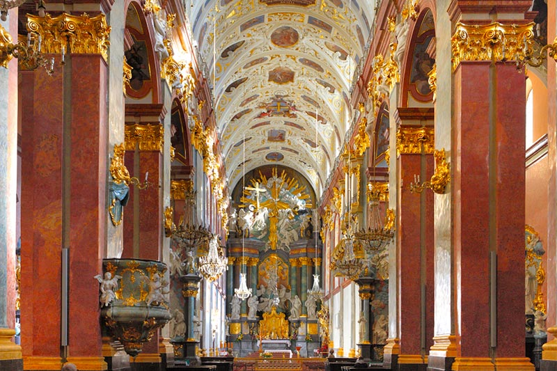 Stucco interior of Jasna Gora Monastary in Poland