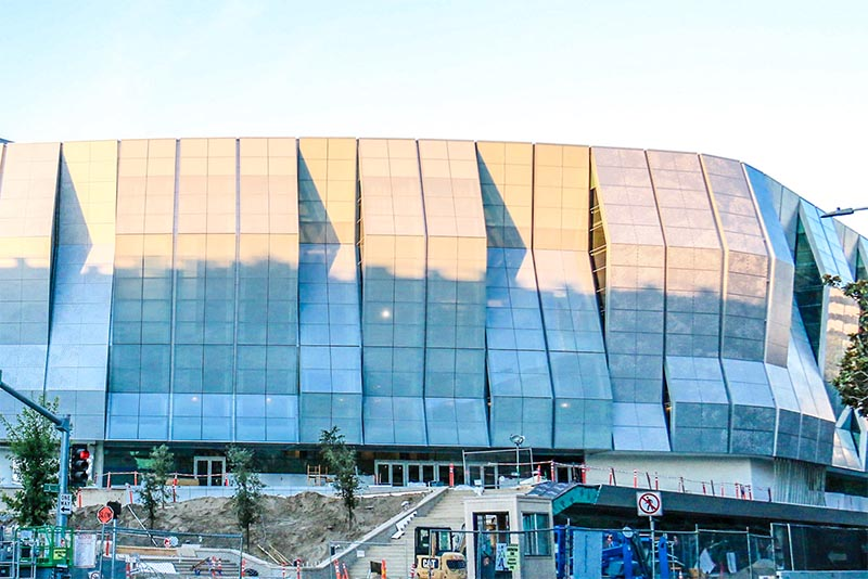 One section of the Golden 1 Center where the Sacramento Kings play basketball