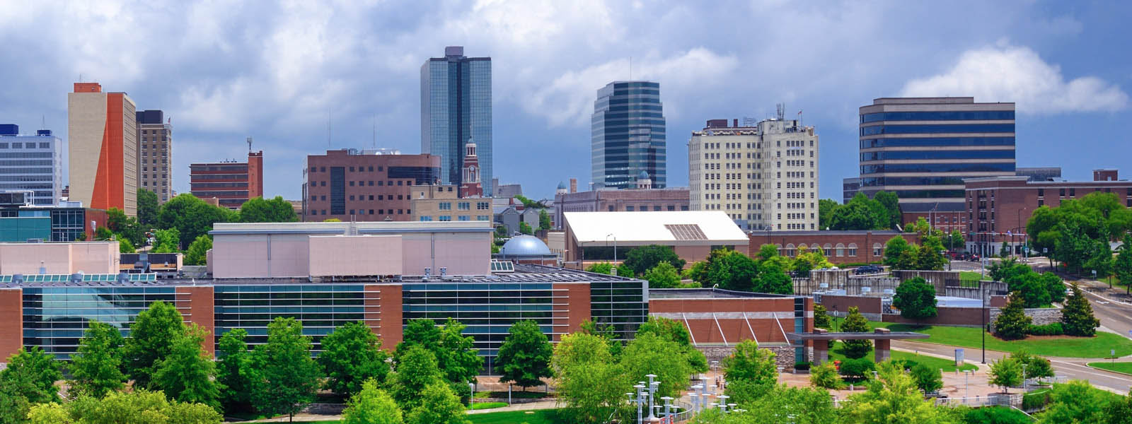 The skyline of downtown Knoxville, Tennessee